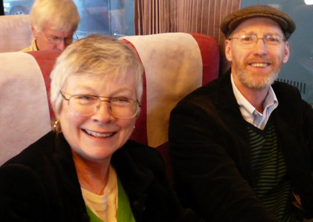 Listeners from B.C. Jane Whiteley & Hugh Jones on the Jazz Train