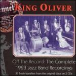 off the record the complete 1923 jazz band recordings